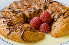 Chocolate Raspberry Croissant Panini Recipe...for Two — Punchfork