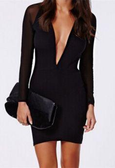 Long Sleeve Spliced Dress