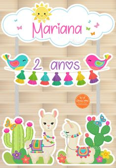 First Birthday Dresses, Birthday Party Themes, Tarjetas Diy, Cactus Craft, Llama Birthday, Llama Alpaca, Birthday Cake Decorating, Ideas Para Fiestas, Butterfly Art