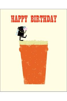 Beer Diving Inkpress Range Brother Birthday Card Innovative and refreshing at Creased Cards. Birthday Wishes Funny, Happy Birthday Pictures, Happy Birthday Quotes, Birthday Messages, Happy Birthday Cards, Birthday Greetings, Facebook Birthday, Birthday Cards For Brother, Vintage Birthday Cards