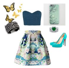 """I've got butterflies"" by ratesha-petrillo on Polyvore featuring TIBI, Mary Katrantzou, Christian Louboutin, Fenton and BERRICLE"