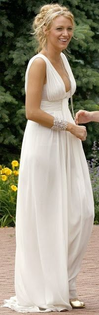 Grecian maxi dress white love