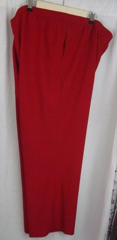 ALIA Women's Pants Plus Size 24W Red Two Pockets Elastic Waist Pull-on #ALIA #CasualPants #YourChoice