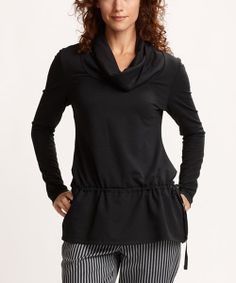 Take a look at the Cutter & Buck Black Claudia Tunic - Women on #zulily today!