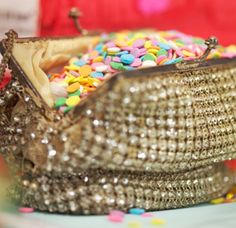 Cugte way to serve the sprinkles at the Sparkle Bar!!!!confetti and sparkle
