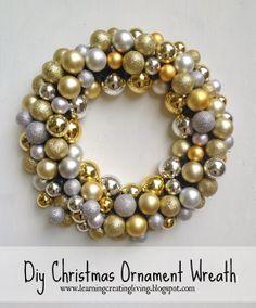 Learning, Creating, Living.: Diy Christmas Ornament Wreath