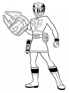 pirate power rangers coloring pages - photo#44