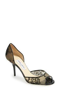 dc38d7d982a8 Jimmy Choo  Lien  Lace Open Toe d Orsay Pump (Women) available