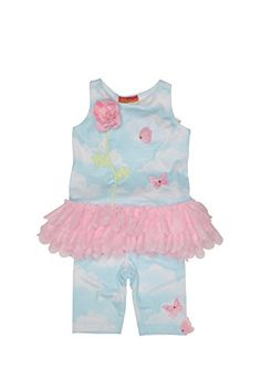 d7e82ee556acff Kate Mack Toddler Girls Butterfly Sky Tunic and Legging Set Blue 4T -- For  more