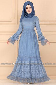 moda selvim Volan Kol Tül Elbise 2189MS212 Bebe Mavisi Collection, Fashion, Bebe, Moda, Fashion Styles, Fashion Illustrations