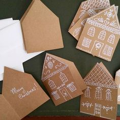 MIY gingerbread house Christmas cards