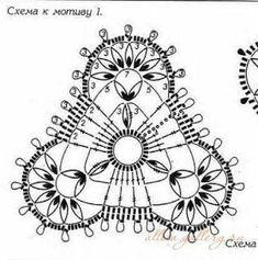 ru / Foto # 49 - I motivi triangolari - Alleta Freeform Crochet, Crochet Diagram, Thread Crochet, Crochet Granny, Irish Crochet, Crochet Motif, Crochet Doilies, Crochet Patterns, Crochet Hats