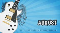 August 2014 Wallpaper Calendar #wallpaper #calendar #august #guitar #desktop #grunge
