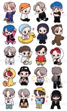Exo Stickers, Planner Stickers, Exo Kai, Exo Chanyeol, Chanbaek Fanart, Kaisoo, Exo Anime, Exo Fan Art, Journal Design