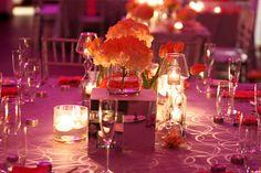Tropical coral beach wedding tablescape | SoMdWeddings.com