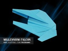 STAR WARS PAPER AIRPLANE - How to make a Simple paper airplane model | Millennium Falcon - YouTube