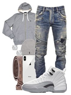 """""""Untitled #123"""" by crenshaw-m4fia ❤ liked on Polyvore featuring Louis Vuitton, Polo Ralph Lauren, Balmain, Asprey, men's fashion and menswear"""