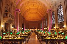 The Boston Public Library - Wedding Reception. SO pretty! Photography by sweetmondayphotography.com