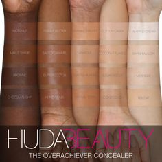 Shop Huda Beauty's The Overachiever High Coverage Concealer at Sephora. A full-coverage, creamy concealer that is packed with skincare actives and a cooling zamac tip. Skin Makeup, Beauty Makeup, Makeup Brushes, Makeup 101, Makeup Guide, Contour Makeup, Rose Von Jericho, Concealer, Sephora