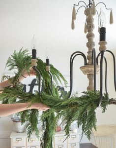 Holiday at the snook How to Decorate a Chandelier for Christmas Chandelier Chandelier christmas decor Christmas Decorate Holiday snook Christmas Floral Arrangements, Christmas Greenery, Rustic Christmas, Christmas Crafts, Christmas Christmas, How To Decorate For Christmas, Nordic Christmas, Christmas Chandelier Decor, Christmas Table Decorations