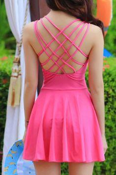 Sweet Sweetheart Neck Criss-Cross Swimsuit For Women #men, #hats, #watches, #belts, #fashion, #style