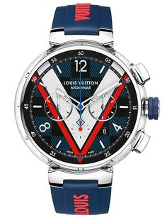 Louis Vuitton presents a new version of its emblematic Tambour watch, inspired by the famous Damier canvas.