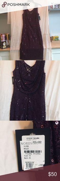 53a3d2ec75d3 Merlot sequin evening dress. Sequin Evening DressesMarina DressNew DressSize  ...