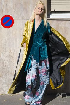 Model Hanne Gaby Odiele at Dries Van Noten 2016 Spring Summer show during Paris Fashion Week PFW