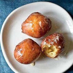Maple-Glazed Sour Cream Doughnut Holes Recipe | MyRecipes.com