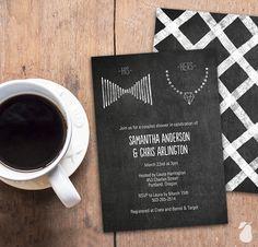 ChalkI It Up To Love Bridal Shower Invitations