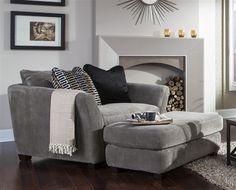 "Brighton Oversized Chair in ""Graphite"", ""Foam"", or ""Cobblestone"" Fabric by Jackson Furniture - 3280-01"