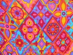 vintage 1960s psychedelic fabric