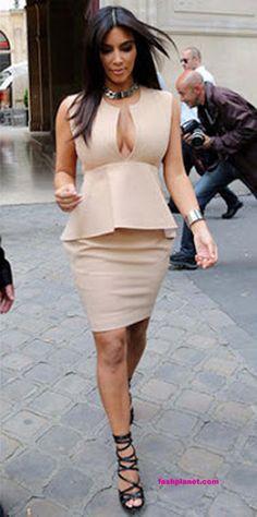 Kim Kardashian Peplum Dress