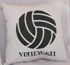 details about volleyball pillow teen bedroom decor personalize bling zebra backing 10 x 10 - Volleyball Bedroom Decor