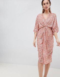 ASOS DESIGN Midi Sequin Kimono Dress