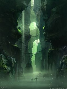Fantasy Artworlds - Personal Illustrations by George Munteanu, via Behance