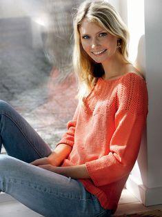 Strik en smuk bluse med zigzagmønstret bærestykke - Hendes Verden - ALT.dk