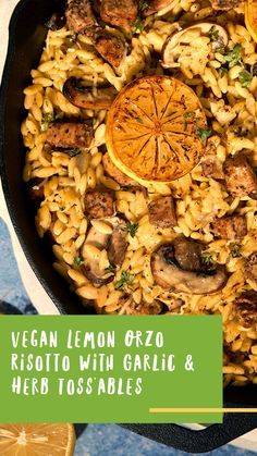Your favorite recipes can also be plant-based and vegan! Lemon Orzo Risotto with Plantspired Garlic & Herb Toss'ables is the perfect dinnertime meal!