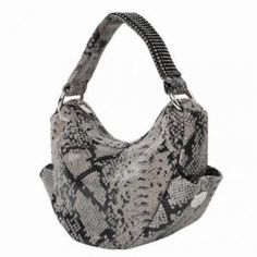 Purses/Sarah Carolyn - DXTouch snake print and Swarovski crystal hobo