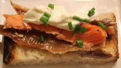 Anchovy and Smoked Salmon Toast