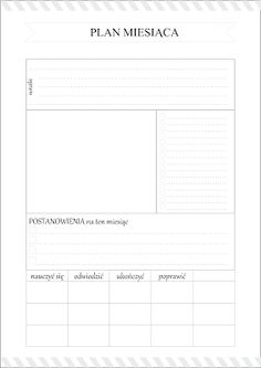DIY Planer - organizer do wydrukowania Organization Bullet Journal, Calendar Organization, Diy Notebook, Pocket Notebook, Work Planner, Planner Pages, Study Hard, Free Prints, Bullet Journal Inspiration
