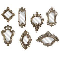 Imax Set Of Seven Loletta Victorian Inspired Mirrors - Beyond the Rack