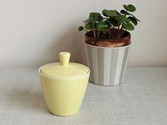 Vintage Zuckerdosen - Melitta Zuckerdose gelb- Top Zustand ! - ein Designerstück von OberSchick bei DaWanda