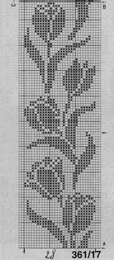 . Filet crochet border edging ...3698rojh