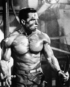 Commando featuring Arnold Schwarzenegger as John Matrix