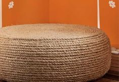 Easy to follow, step-by-step tutorial for making an incredible DIY tire chair with nothing more than an old tire, some rope and two MDF boards!