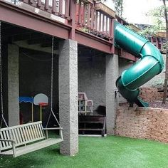 Tunnel slide off the deck. Doing this!