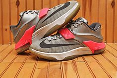 the latest 861be 3d13f 2014 Nike Air Zoom KD VII 7 Size 8 - All Star Pure Platinum Black - 742548  090