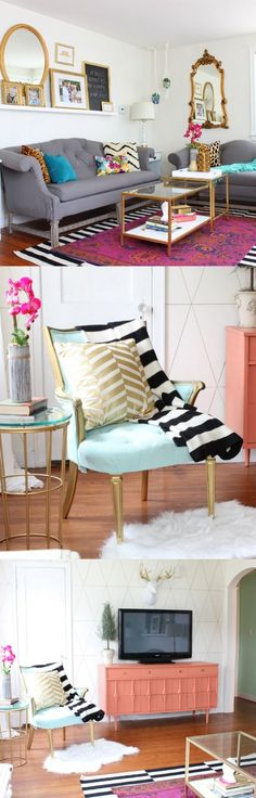 Jewel tones living room makeover - Classy Clutter