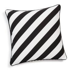 Housse de coussin à rayures en coton noire/blanche 40 x 40 cm STRIPES